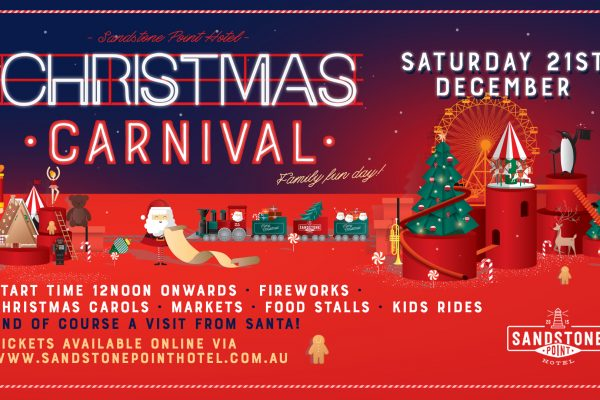 Christmas Carnival Poster.Christmas Carnival Sandstone Point Holiday Resort